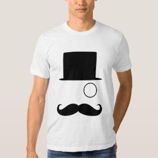 Mustache Monocle & TopHat T-shirt