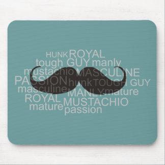 mustache mouse pad