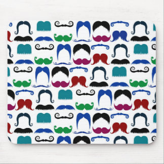 Mustache Moustache Retro Pattern Mouse Mat