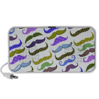 Mustache Moustache Stache Pattern iPhone Speaker