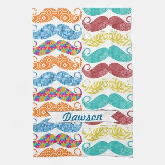 Mustache  Mr. Hipster Vintage Retro Tea Towel