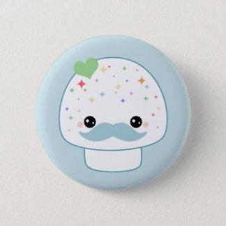 Mustache Mushroom 6 Cm Round Badge