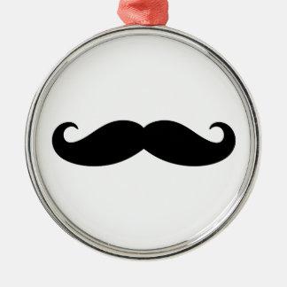 Mustache Mustache, Moustache design Silver-Colored Round Decoration