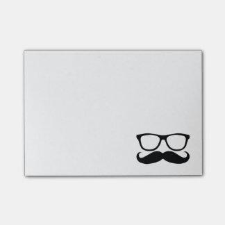 Mustache Nerd Black Graphic Post-it Notes