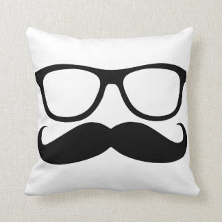 Mustache Nerd Cushion