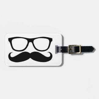 Mustache Nerd Luggage Tag
