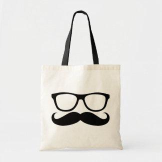 Mustache Nerd Tote Bag