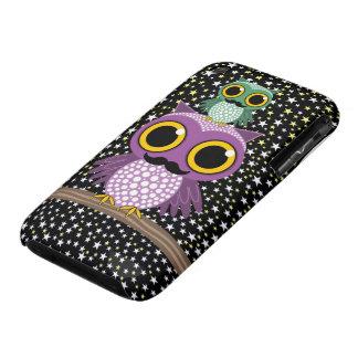 mustache owling owls Case-Mate iPhone 3 case