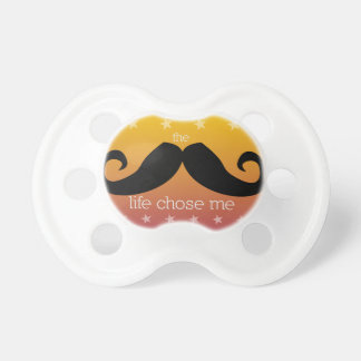 Mustache Pacifier for Baby (Sunset Orange)
