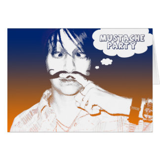 mustache party comic staches greeting cards