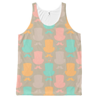 Mustache pattern 2 All-Over print tank top