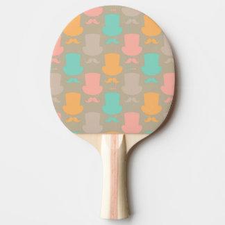 Mustache pattern 2 ping pong paddle