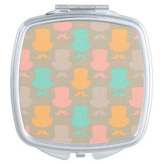 Mustache pattern 2 vanity mirror
