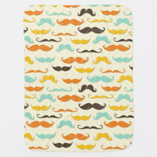 Mustache pattern 3 baby blanket