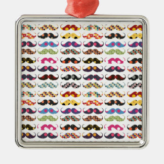 Mustache pattern is cute christmas ornament