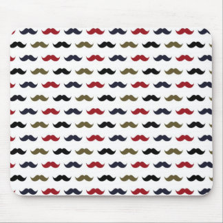 Mustache Pattern Mouse Mat