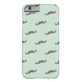 Mustache pattern on mint barely there iPhone 6 case