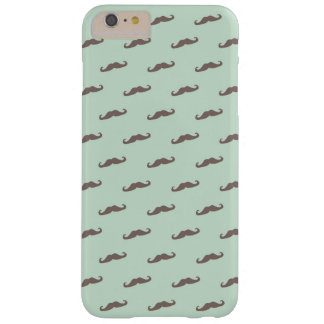 Mustache pattern on mint barely there iPhone 6 plus case