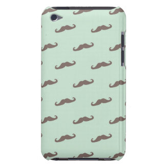 Mustache pattern on mint iPod touch Case-Mate case
