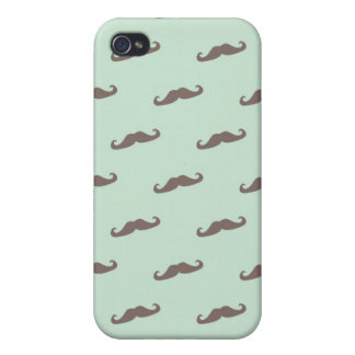 Mustache pattern on mint iPhone 4/4S case