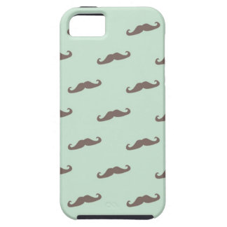 Mustache pattern on mint iPhone 5 cases