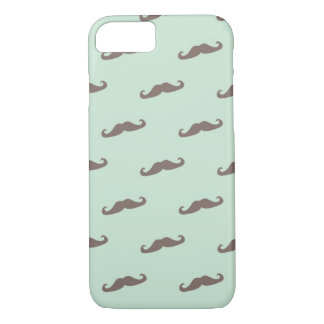 Mustache pattern on mint iPhone 8/7 case