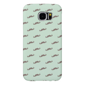 Mustache pattern on mint samsung galaxy s6 cases