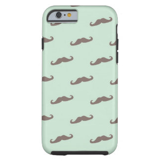 Mustache pattern on mint tough iPhone 6 case