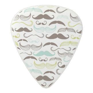 Mustache pattern, retro style 2 acetal guitar pick