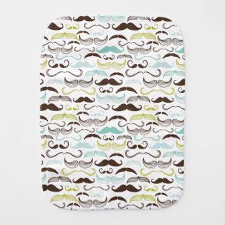 Mustache pattern, retro style 2 burp cloth