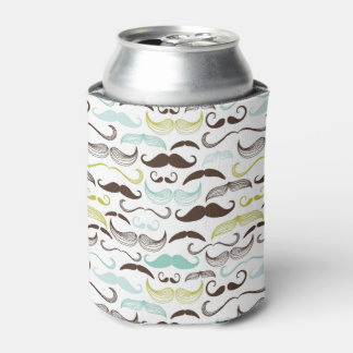 Mustache pattern, retro style 2 can cooler