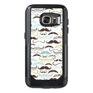 Mustache pattern, retro style 2 OtterBox samsung galaxy s7 case