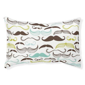 Mustache pattern, retro style 2 pet bed