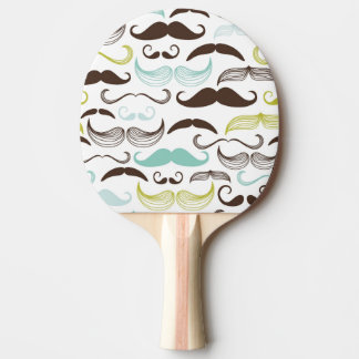 Mustache pattern, retro style 2 ping pong paddle