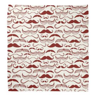 Mustache pattern, retro style 3 bandana
