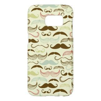 Mustache pattern, retro style 4
