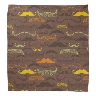 Mustache pattern, retro style 5 bandana