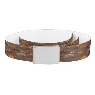 Mustache pattern, retro style 5 belt