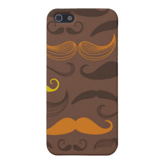 Mustache pattern, retro style 5 iPhone 5/5S covers