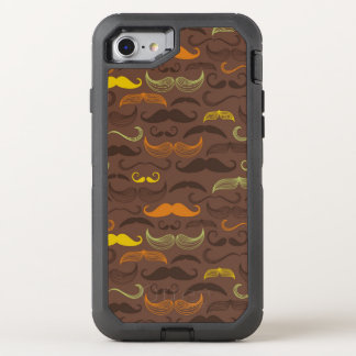Mustache pattern, retro style 5 OtterBox defender iPhone 7 case
