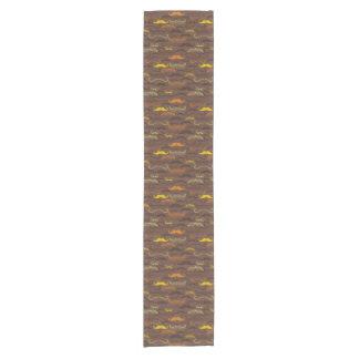 Mustache pattern, retro style 5 short table runner