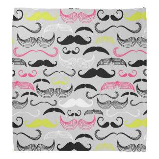 Mustache pattern, retro style bandana