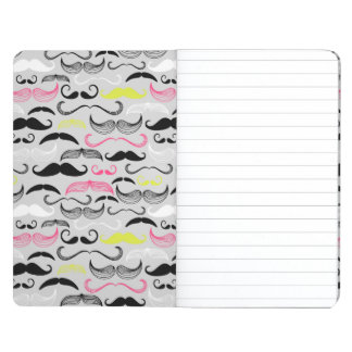 Mustache pattern, retro style journal