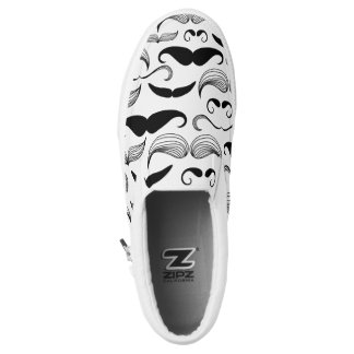 Mustache Pattern Slip-On Shoes