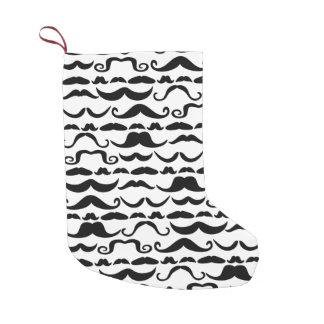 Mustache Pattern Small Christmas Stocking