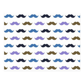 Mustache Pattern w/Handlebar Moustaches Post Cards