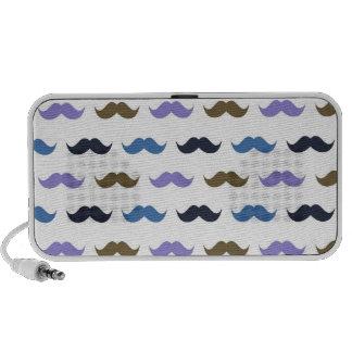 Mustache Pattern w/Handlebar Moustaches Mp3 Speaker