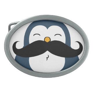 Mustache Penguin Belt Buckles