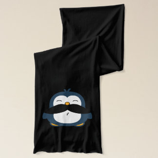 Mustache Penguin Cartoon Scarf
