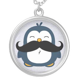 Mustache Penguin Pendants